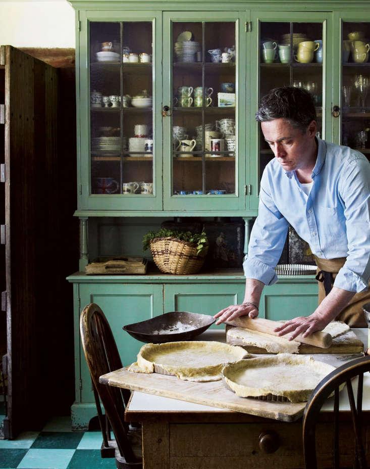 Kitchen gardener and cook in residence, Aaron Bertelsen at Great Dixter.