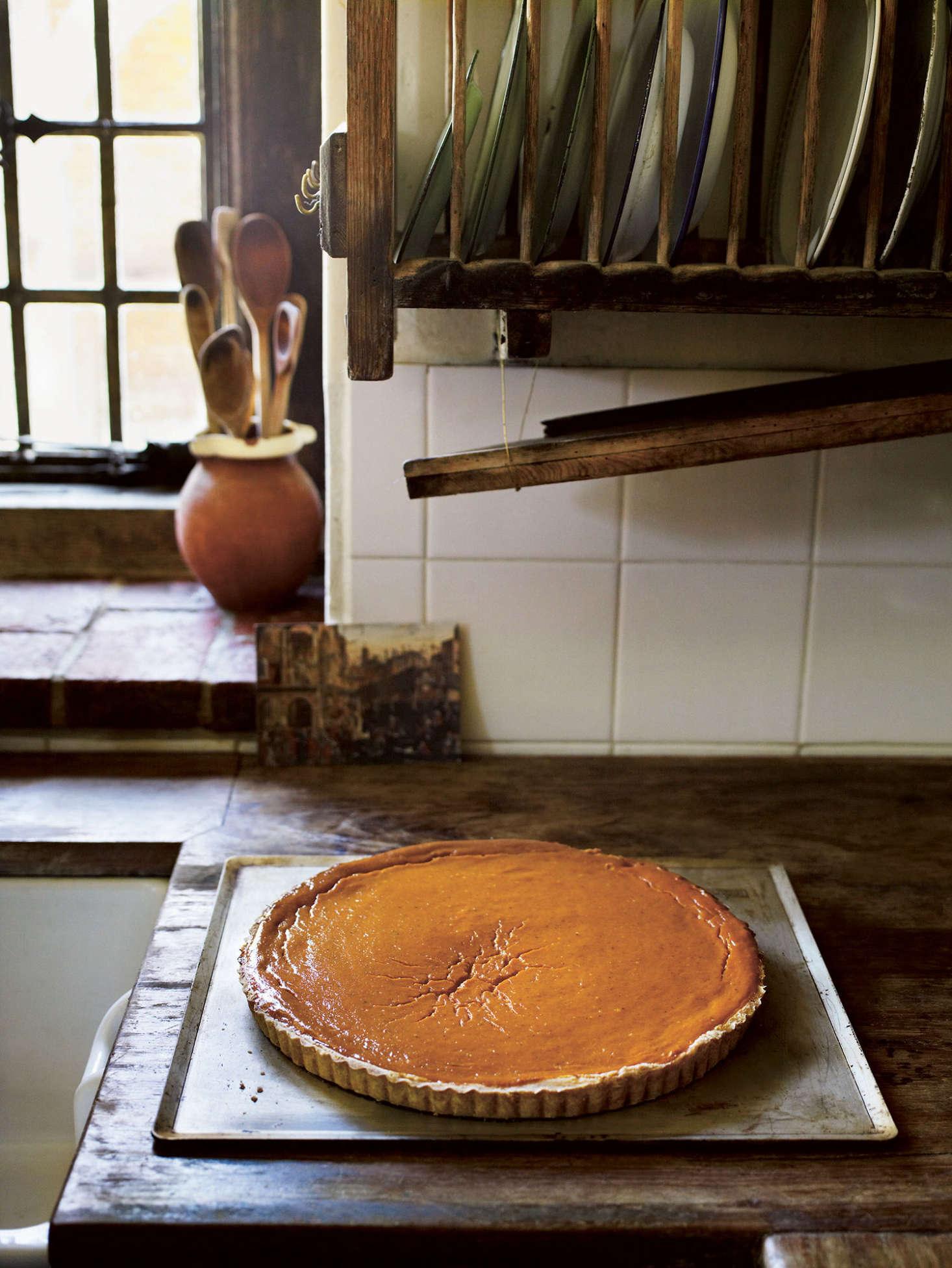 Pumpkin pie from The Great Dixter Cookbook.