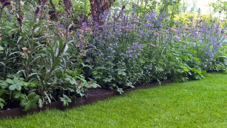 EverEdge Classic lawn edging (from around £5 per meter) was used in a recent Chelsea Flower Show. Photograph via EverEdge.