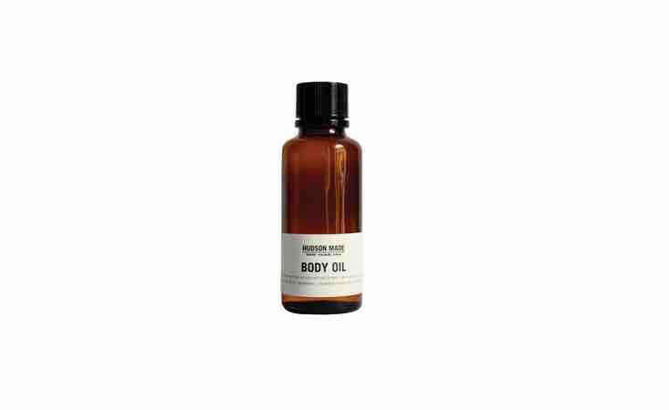 A 4-ounce bottle ofLavender, Cedarwood and Frankincense Body Oil is \$38 from Hudson Made