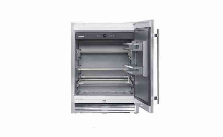 Liebherr&#8\2\17;s RO-5\10 Indoor Outdoor Beverage Center has three shelves and a temperature range from 36 to 68 degrees Fahrenheit. It is \$\2,\139 from Amazon.