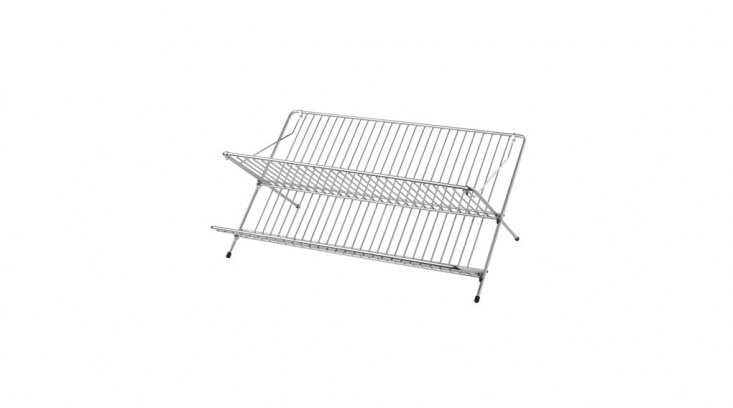 A galvanized Kvot Dish Drainer is $8.99 from Ikea.