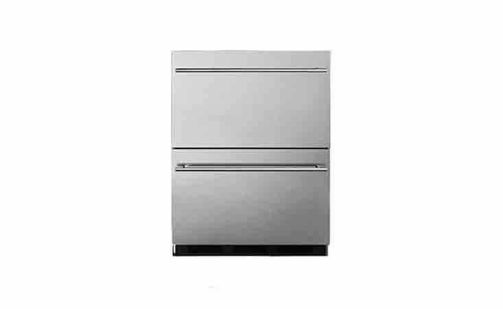 Summit&#8\2\17;s Outdoor Commercial Refrigerator Drawers unit is \$\1,978.90 from Amazon.