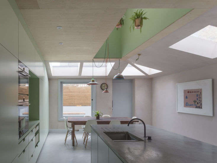 Our Kitchen of the Week benefited from potted plants and a skylight.