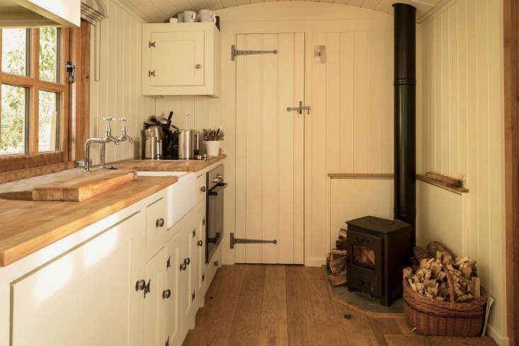 The larger Living Hut, has been introduced after customers asked for more livable spaces; it can be fitted with a kitchen and bathroom and is cozy year round with double glazed oak windows, an oak stable door, and a 3-kilowatt woodburning stove.