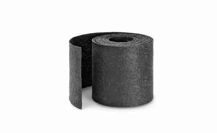 A 4-meter roll of Rubber Edging Strip is 3 millimeters thick and can be cut to length; it is €\24.80 from Manufactum.