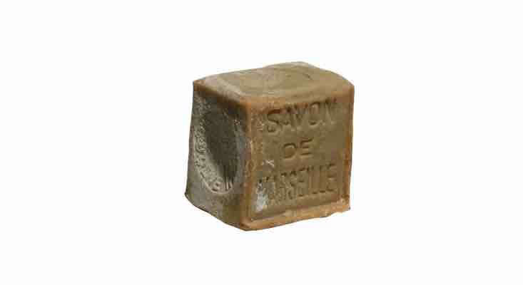 Made of 7\2 percent olive oil, a bar of traditional French Savon de Marseille Soap is €5 from La Savonnerie.
