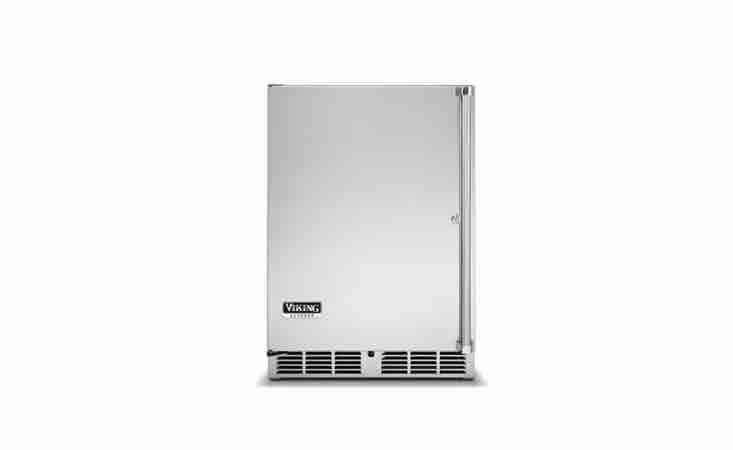Viking&#8\2\17;s \24-In Solid Door Undercounter Refrigerator has a thermal-efficient cabinet and a slide-out shelf; \$3,039 at A.J. Madison.