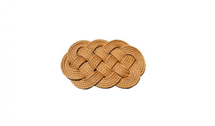 A woven Nautical Rope Doormat measures  by 3