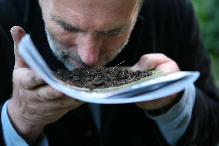 Allan Jenkins, communing with the soil.