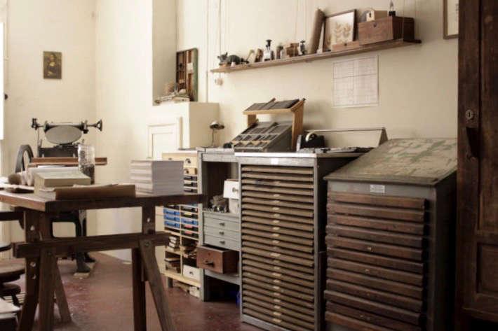 In the Arminho studio.