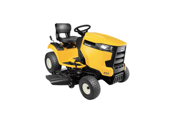 Cub Cadet&#8\2\17;s XT\1 LT4\2 model earned top ratings from Consumer Reports. The riding lawn mower has automatic transmission &#8\2\20;just push a pedal and go,&#8\2\2\1; says the manufacturer) and is \$\1,499.