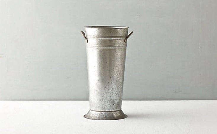A \14.\25-inch Zinc Florist's Vase is \$36 from Terrain.