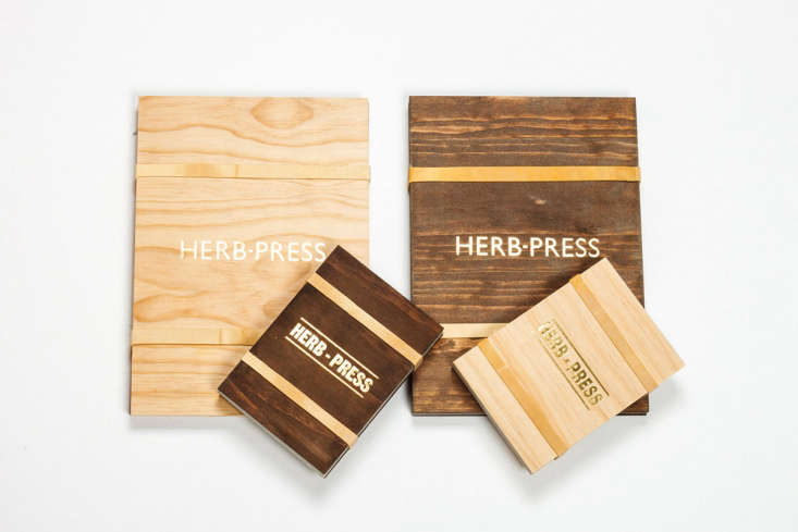 A smallHerb Press measures 6.4 inches high by 5 inches wide and is $3