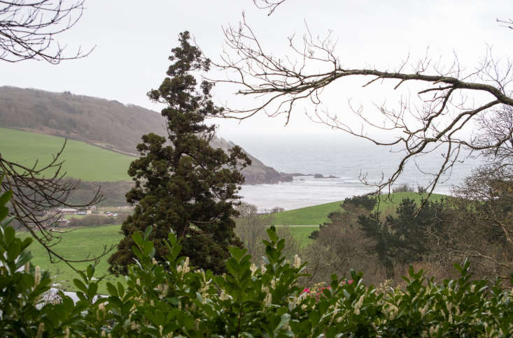 A view over the sea, from the windyfront of the house at Caerhays.
