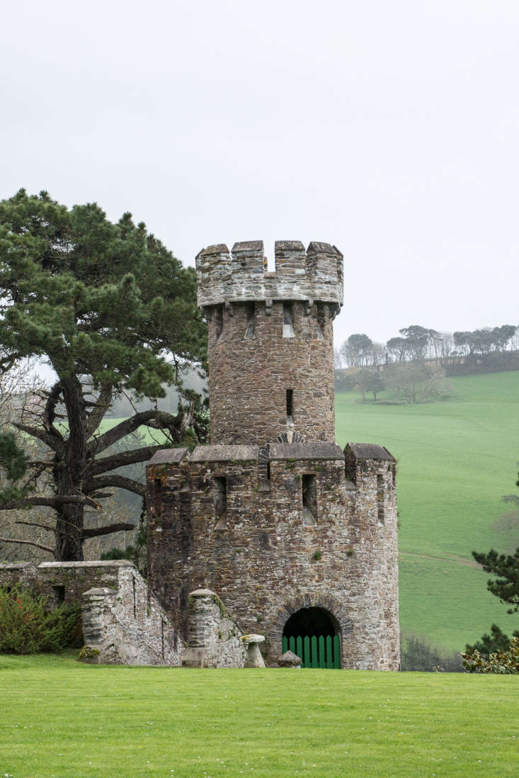 Caerhays in Cornwall, looking out over Porthluney Beach.