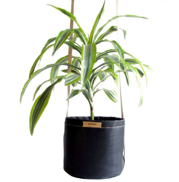 A \10-inch Hanging Planter in black is \$3\2.99.