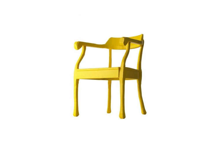 Designed by Jens Fager for Muuto, the Raw Chair, shown in Yellow, is $loading=