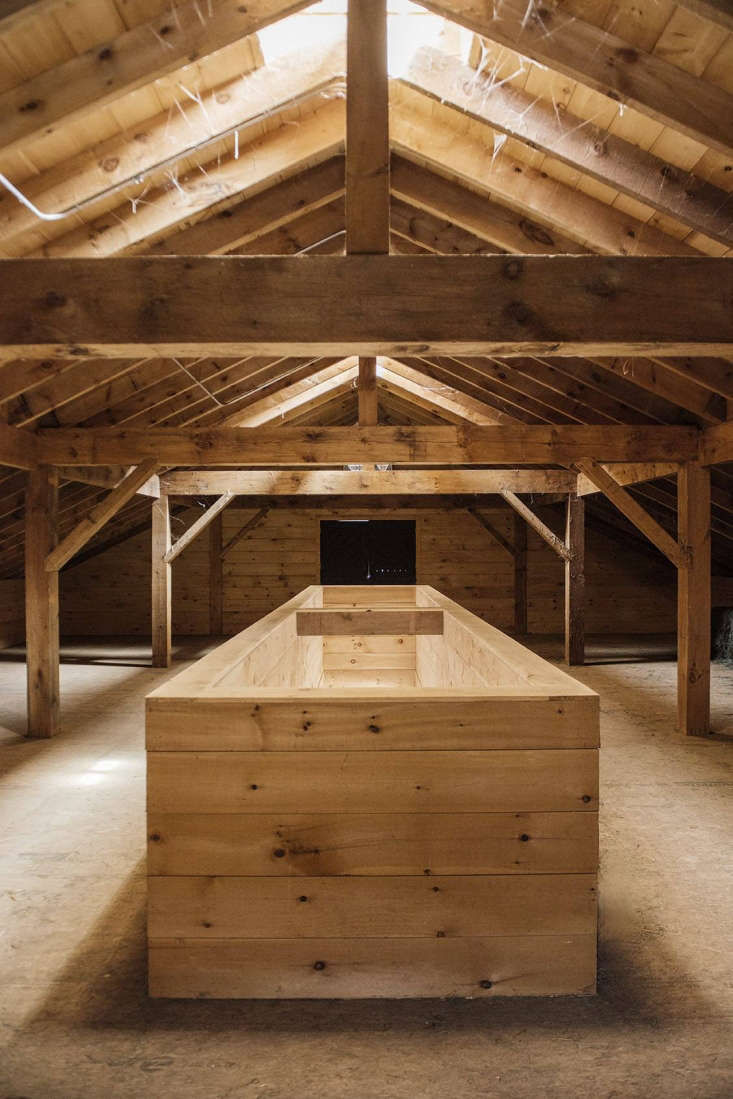 &#8\2\20;The opening to the first floor is framed out to be both a handrail and a support for the hay piles—so neither hay nor people topple down,&#8\2\2\1; said Berman.