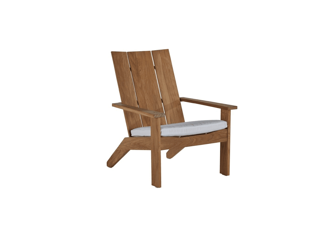 The Persephone Teak Adirondack Chair is hand-crafted from plantation-grown, marine-grade teak; $src=