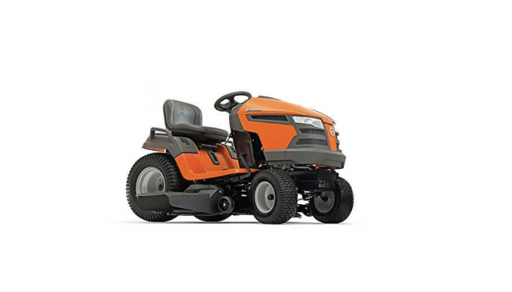 Husqvarna Hydro Transmission Riding Lawn Mower has two cutting blades and an \18.5-horsepower Briggs & Stratton Intek engine. It is \$3,349 via third party sellers on Amazon.