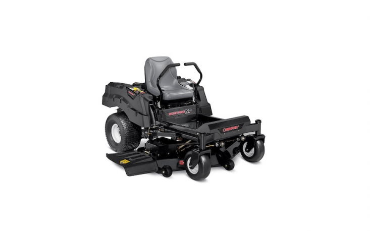 A Troy-Bilt XP Mustang Zero-Turn Lawn Mower is designed to make tight turns in small spaces (but has a 54-inch deck for efficient mowing); it is \$5,093.95 from Lowe&#8\2\17;s.