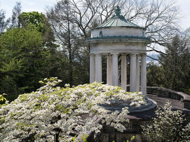 The Temple of Aphrodite in the Brook Garden at Kykuit is one of many classical ornaments installed during the time when John D. Rockefeller Jr. was completing the landscaping of the estate in partnership with architect William Welles Bosworth.