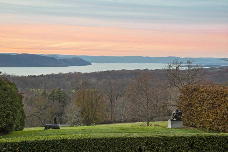 A sunset view of the Hudson River from Kykuit, which is named after the Dutch word for lookout.