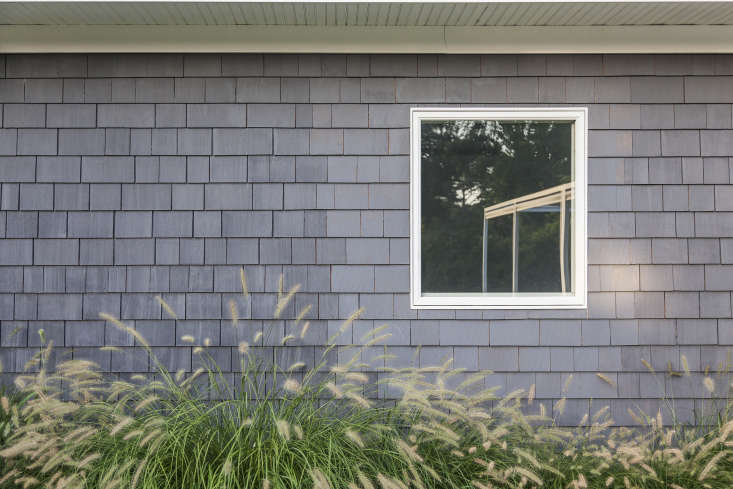 Sea grasses soften the edges of the house.