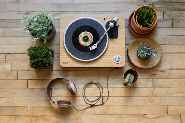 Classic vinyl with a sustainable twist: anew turntable from House of Marley.