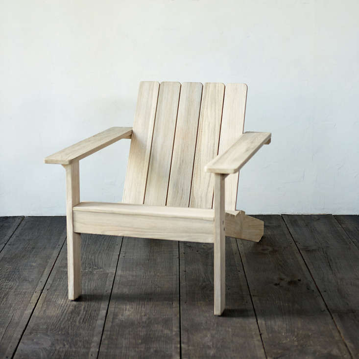A Teak Adirondack Chair pre-treated to resist wear from sun and rain is $6 from Terrain.
