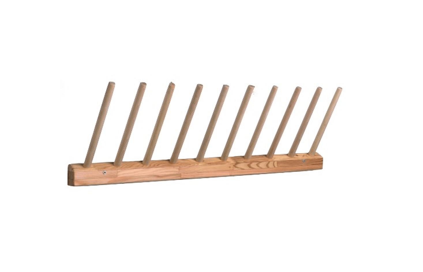 Made in Germany, a 38-inch-long Wooden Boot Rack holds five pairs; for more information and pricing, see Gressco.