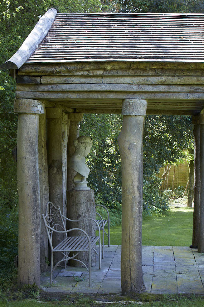 From the Antler Temple, there are views back to the Urn Garden.