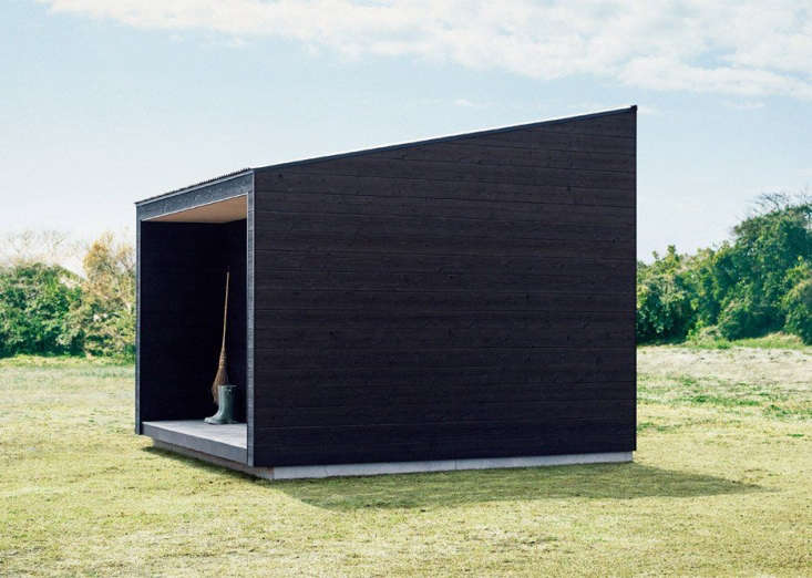 Suitable for use as a pottingshed, garden workshop, or backyard getaway, the mini Muji Shed does not have a toilet, sink, or cooking facilities.
