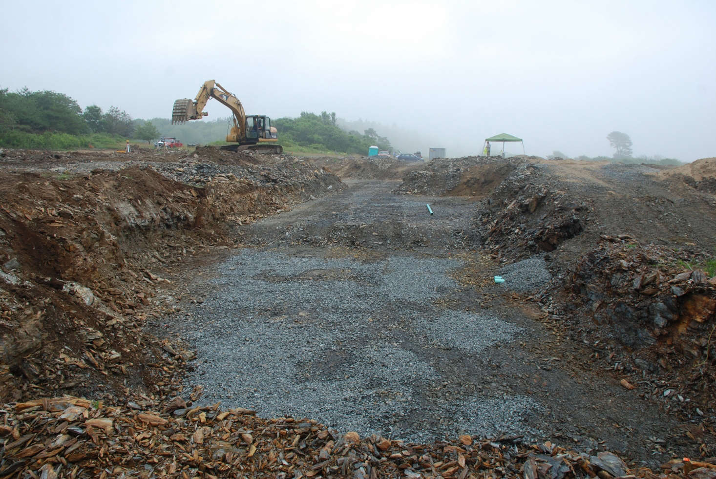 The site of the house, just before the foundation was laid. Photograph by Todd Richardson.