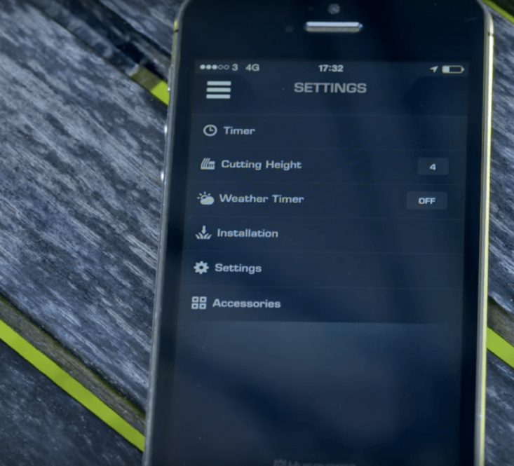 Husqvarna's Automower Connect app lets you start and stop your mower from anywhere in the world—and, while you're at it, even fine-tune the cutting height.