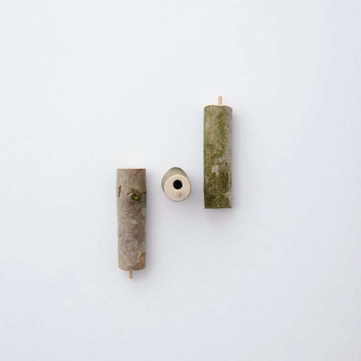 &#8\2\20;This set of three Bee Hotels are ideal for encouraging solitary bees into your garden to poll0nate trees and flowers,&#8\2\2\1; notes designer Fisher.