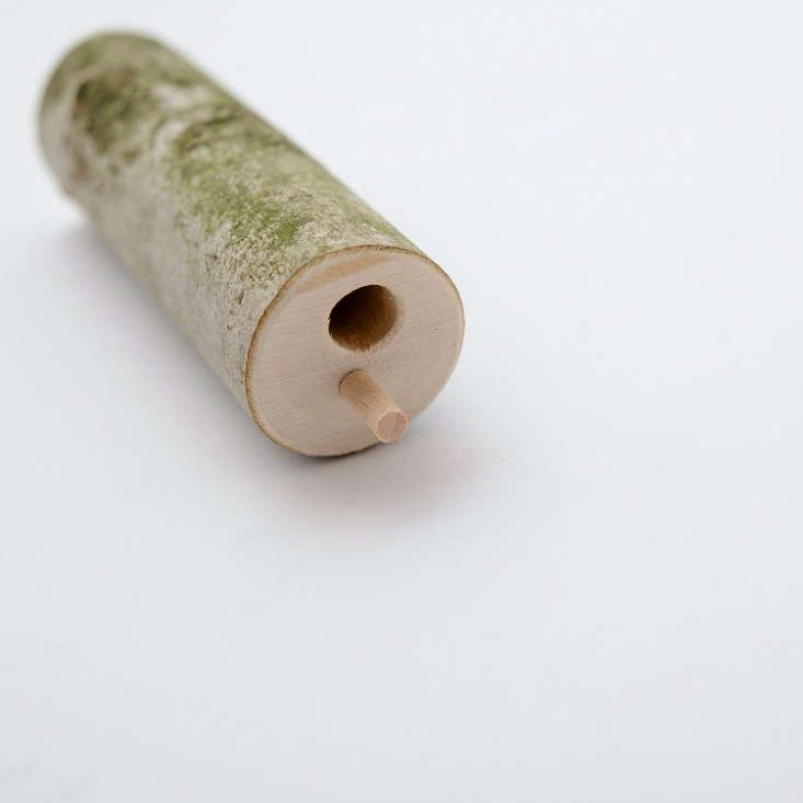 Most of Fisher&#8\2\17;s products are made from fallen beech wood he winds in the forest near his studio.