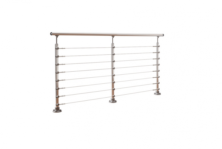 A 6.5-foot Prova Stainless Steel Cable Railing Kit is \$479.75 from Lowe&#8\2\17;s.