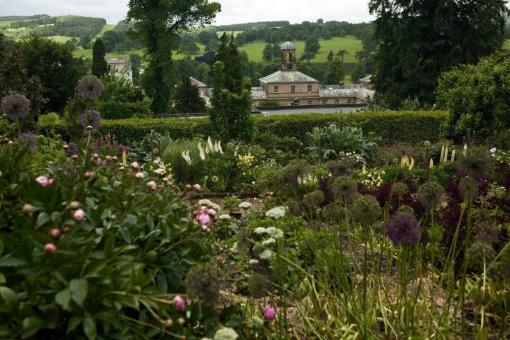 The cutting garden, up above the stable block at Chatsworth, Derbyshire.