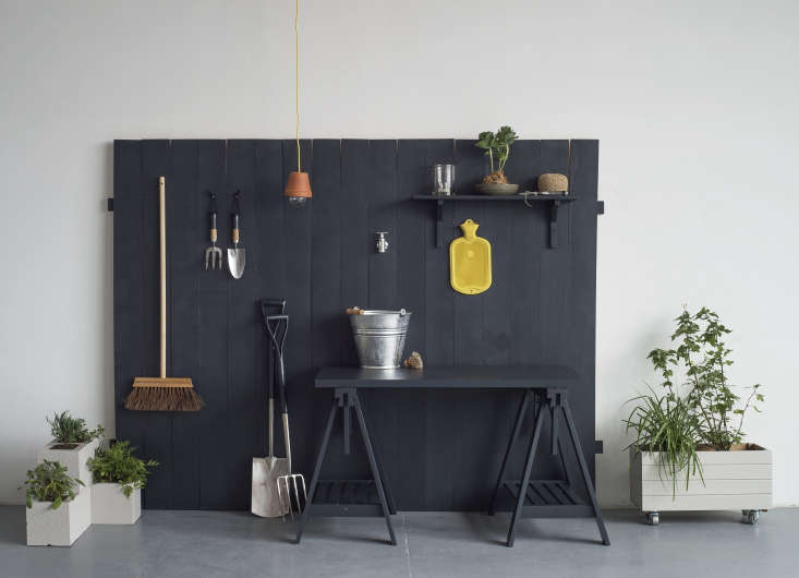Our \10 DIY projects, including the container box on wheels, add up to one outdoor room. For the rest, see Gardenista: The Definitive Guide to Outdoor Spaces.