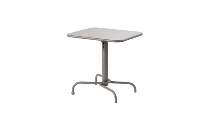 A folding table from Ikea; a gray, rustproof aluminum Tulholmen table is \$79.