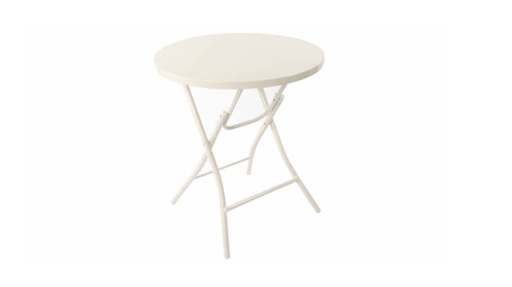 A round Bistro Metal Folding Table is \$45 from Target.