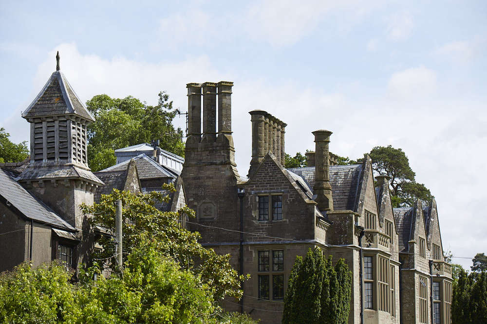 The oldest parts of the house date to the 00s and the imposing Victorian gothic façade was added in 50.