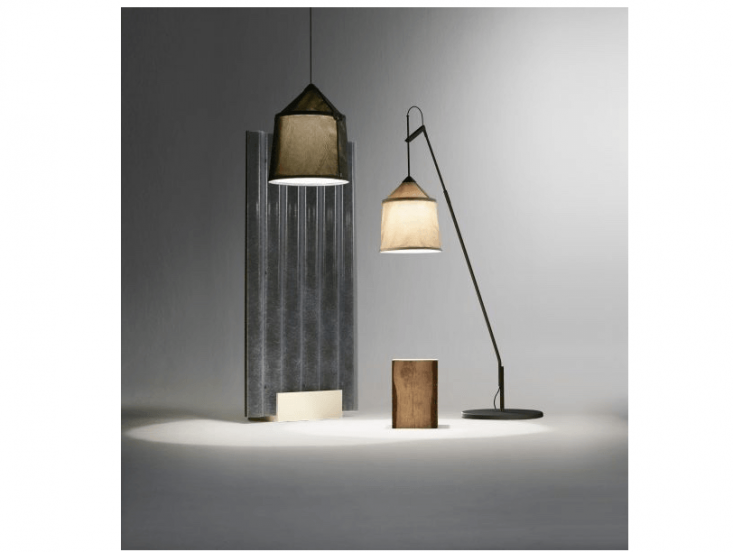 The Jaima outdoor standing lamp can be customized with two styles of rotating stand. The lamp also can beconfigured as a wall sconce or pendant light.