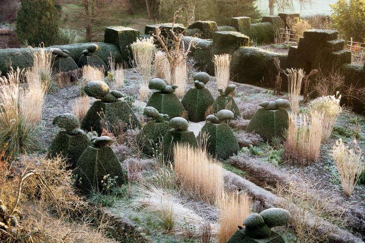 Great Dixter in winter; the Peacock Garden near the house. Photograph by Carol Casselden.