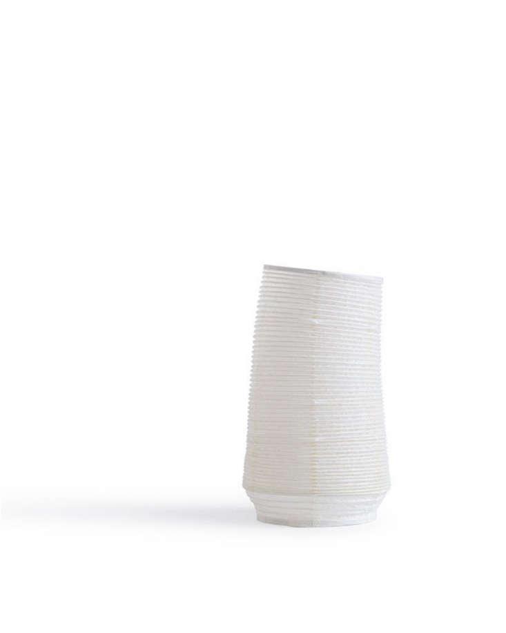 A slim column, Washi Paper Vase No. 3 is \$\2\2.