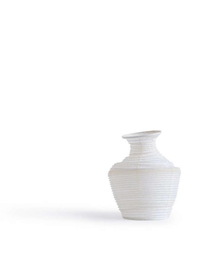 Urn-shaped Washi Paper Vase No. 4 is \$\2\2.