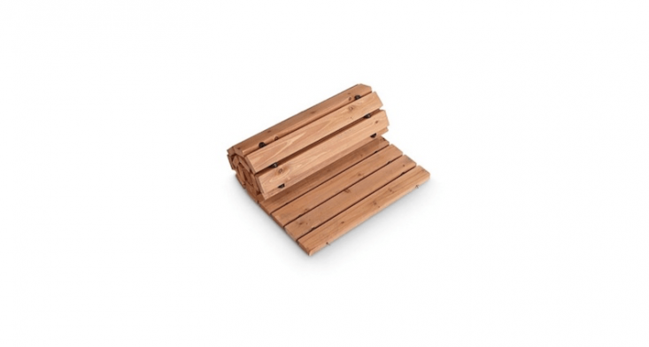 A set of two 36-inch-long cedar Wooden Walkways is \$39.99 from Improvements.