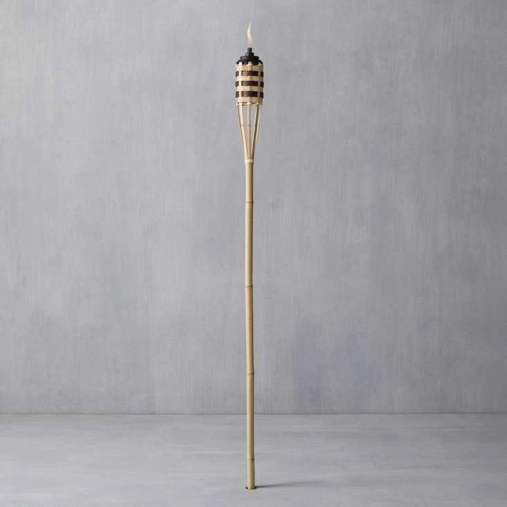 A 57-inch Grenada Bamboo Torch (\$\2.99) has a \1\2-ounce canister to hold citronella and cedar Bitefighter Fuel (\$\13.99 for \100 ounces); both are made by Tiki Brands.
